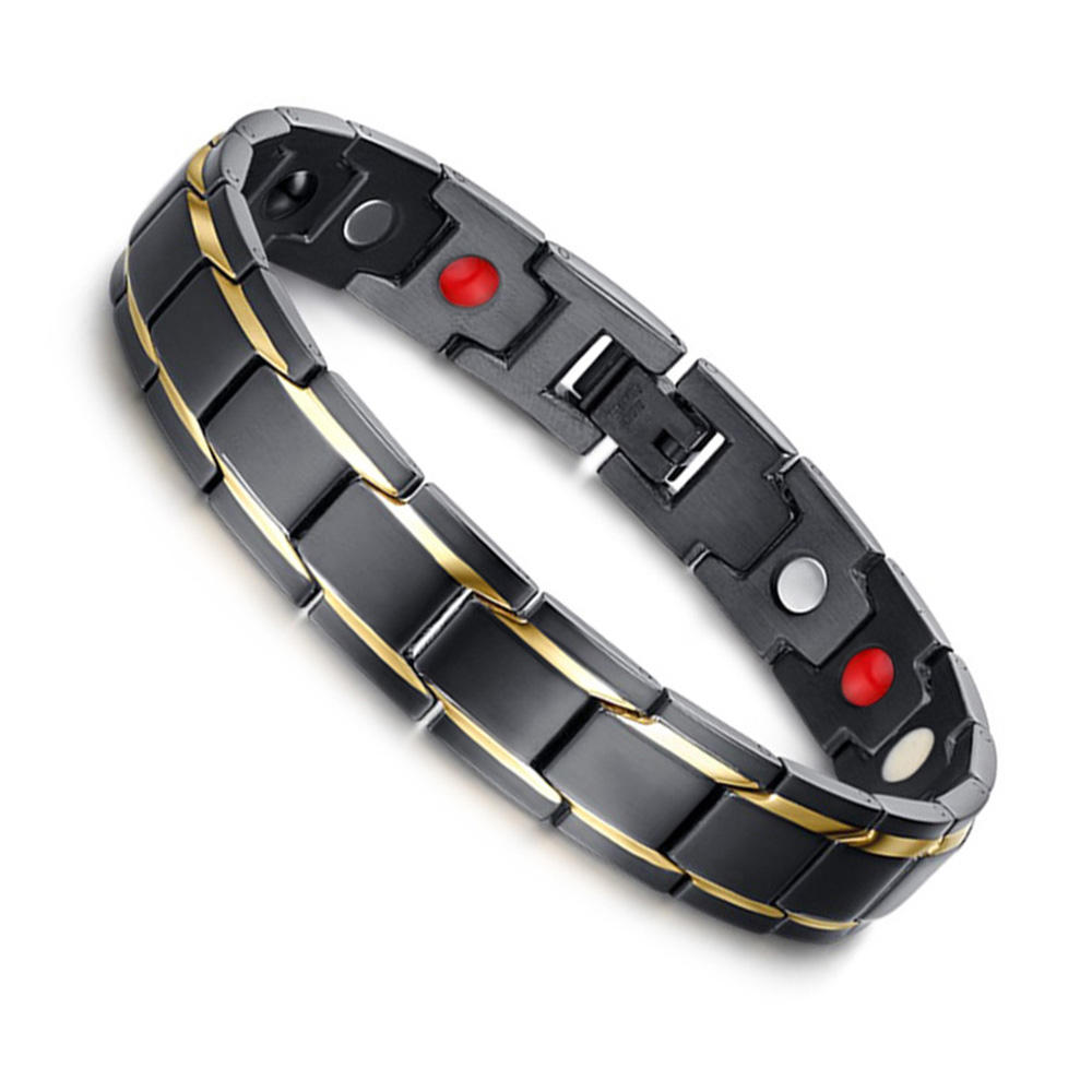 Black l titanium health magnetic bracelet jewelry for men at