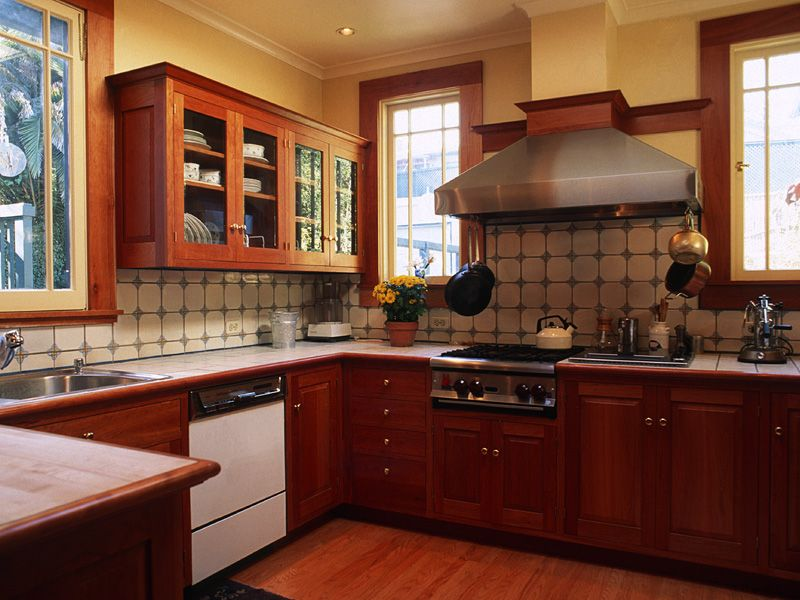 1912 Residential Remodel. Kitchen. Piedmont, CA. Designed by Kirk E. Peterson & Associates.