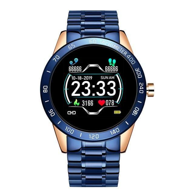 Men's Fitness  Smartwatch   Heart Rate Monitor Blood Pressure Tracker Smartwatch - Blue / Spain