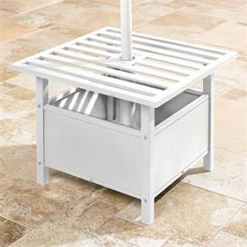 umbrella stand side table patio side