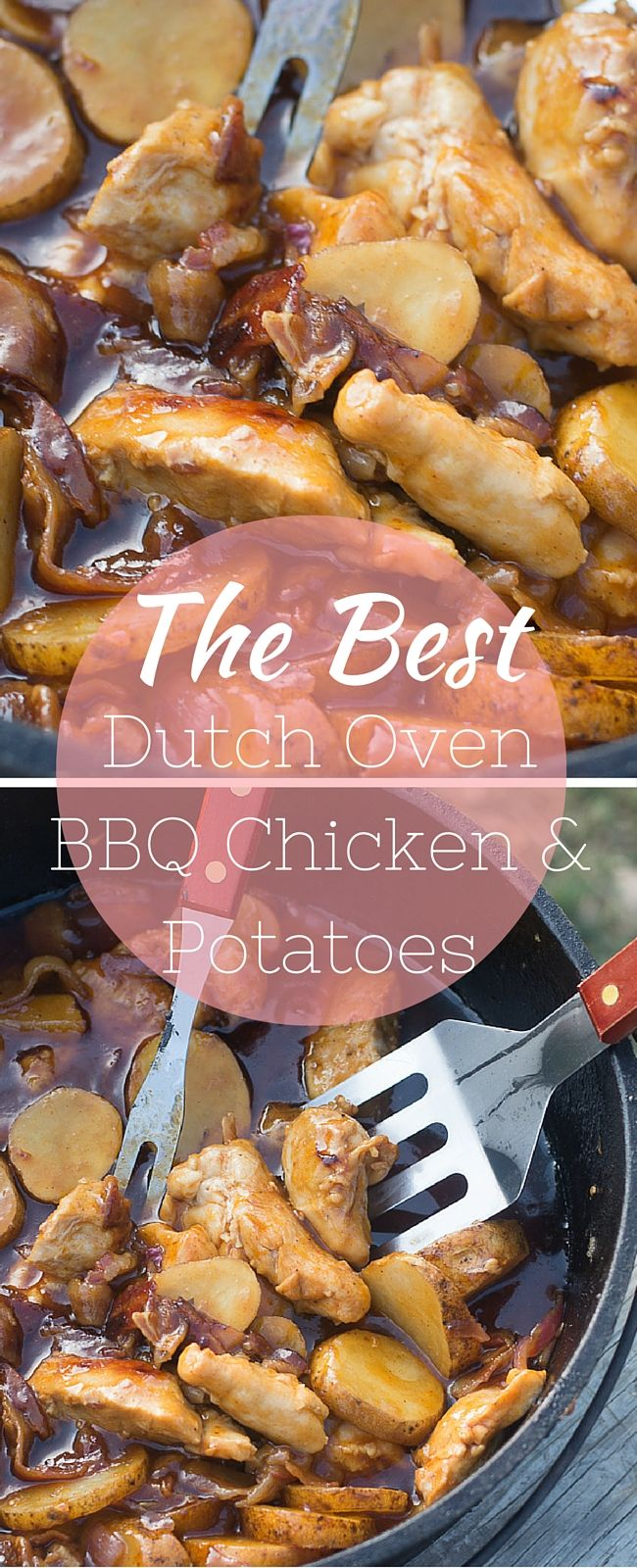 This Is The Best Dutch Oven Bbq Chicken And Potatoes