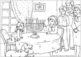 Printable Hanukkah coloring pages | December Crafts and Activities ...