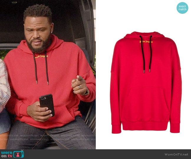 20c1fe3d6b Andre s red PALM ANGELS hoodie on Black-ish in 2019