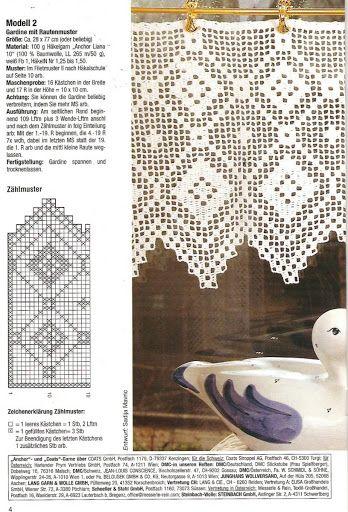 Gardine Filet Häkeln Crochet Cortinas Curtains Dantel