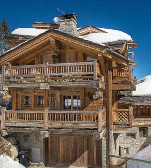Chalet  Martine Haddouche  u2022 home u2022 Pinterest Berghütte - huser moderner landhausstil einrichtung