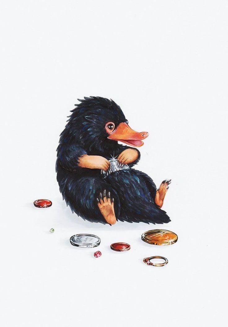 Niffler Art Phantastische Tierwesen Fantastische Tierwesen Niedliche Zeichnung