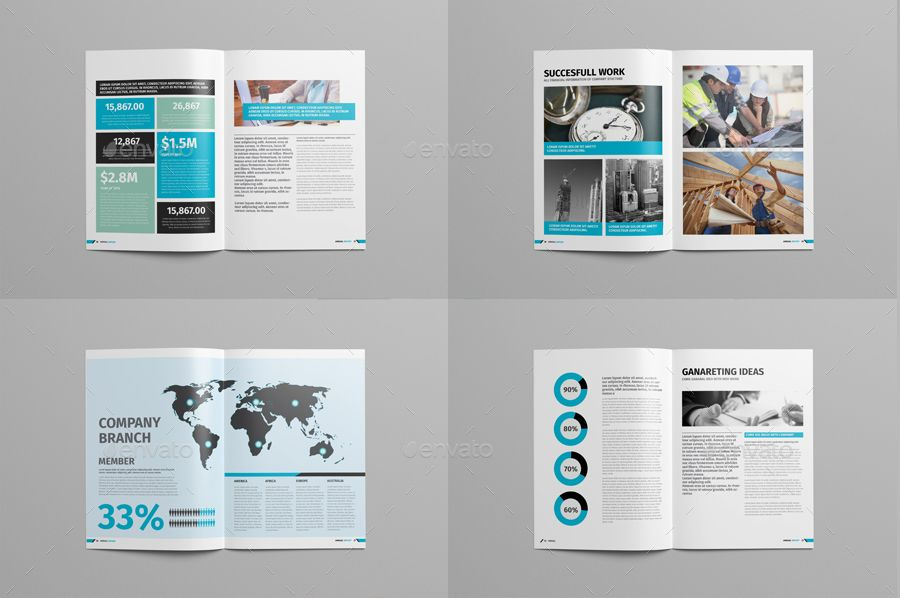 10 Annual Report Brochures Templates Ai Psd Docs Pages