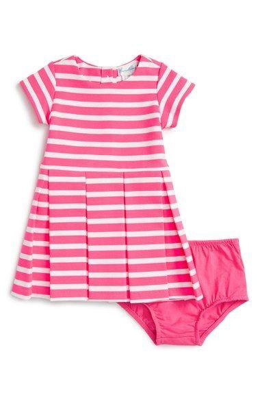 83cc5ca14e9c Ralph Lauren Stripe Ponte Knit Pleated Dress (Baby Girls) available ...