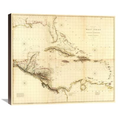 Global Gallery Composite: West Indies, 1810 by Aaron Arrowsmith Graphic Art on Wrapped Canvas Size: