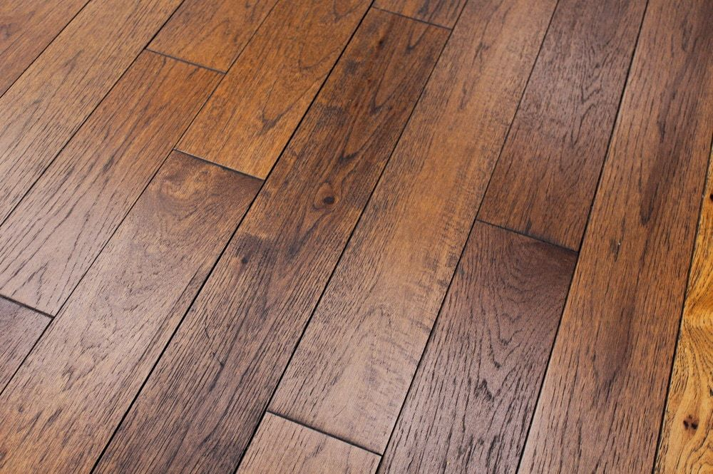 Wire Brushed Hickory 3 4 Quot Floor Flooring Types Of