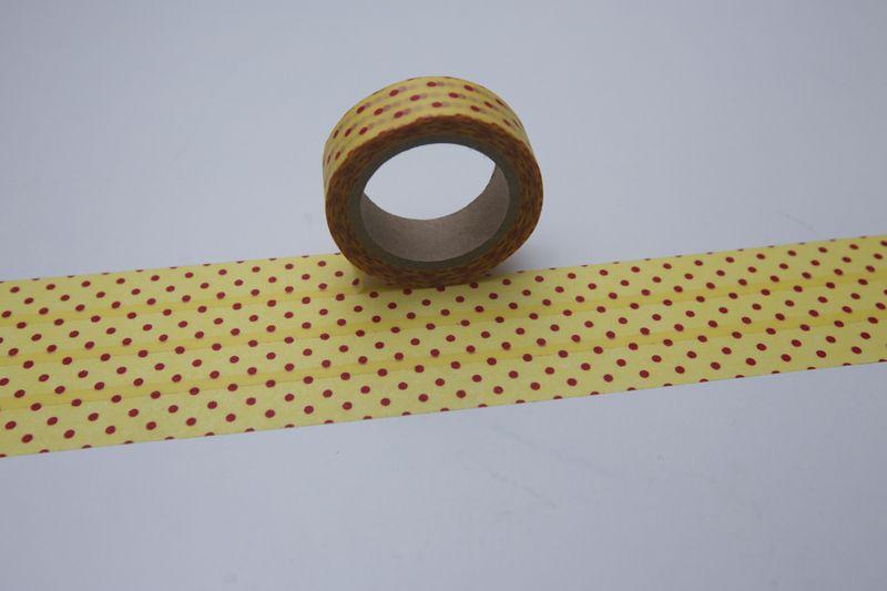 Washi Masking Tape gelb rot orange PUNKTE von bespokedesign auf DaWanda.com