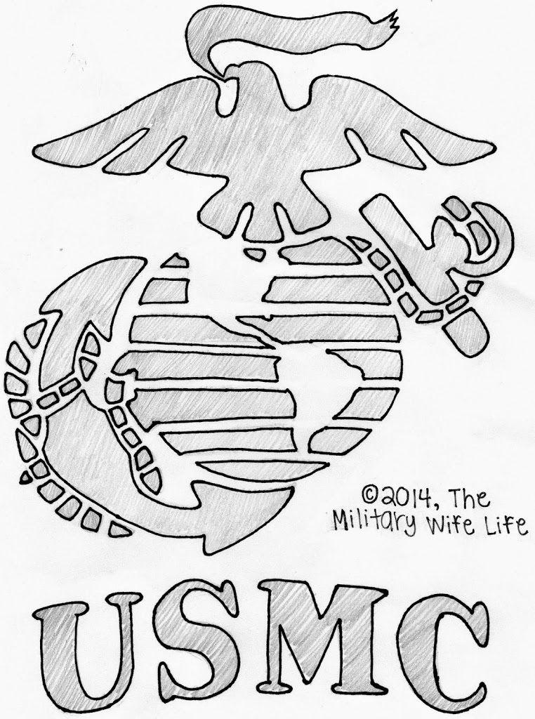Marine pumpkin stencil