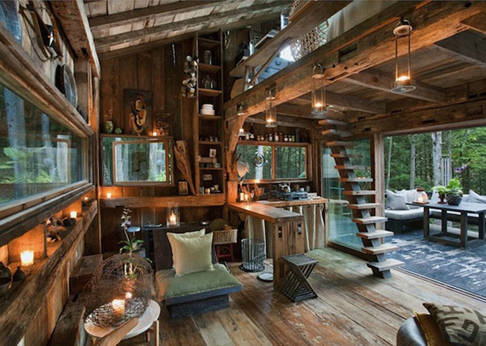 Fashion Stylist S Tiny Reclaimed Wood Cabin Is The Perfect