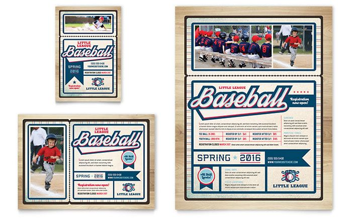 Baseball League Flyer and Ad Template Design by StockLayouts | logo ...
