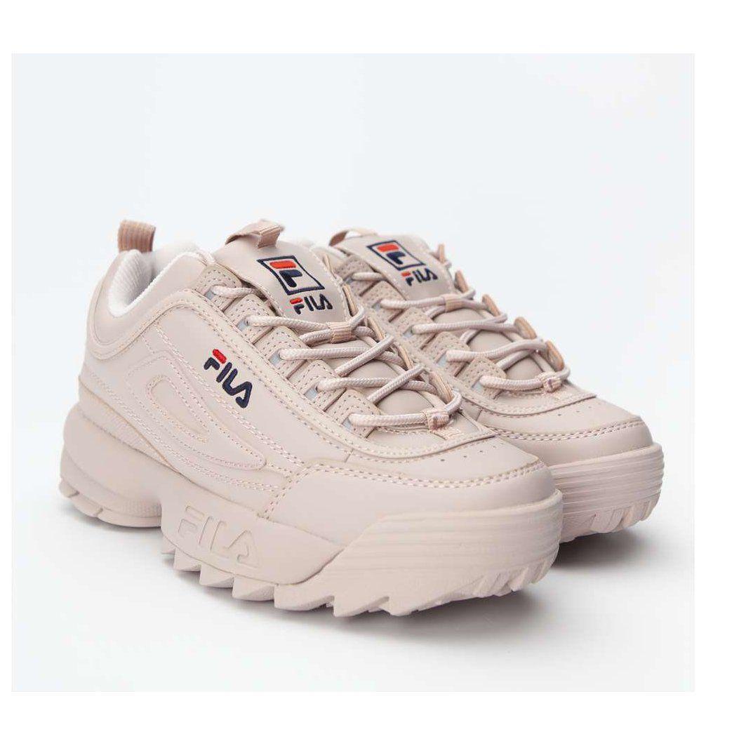 Sportowe Damskie Fila Fila Brazowe Disruptor Low Wmn 71p Rose Smoke Fila Shoes Sneakers