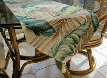Tropical Leaf Table Runner