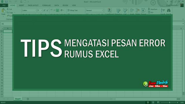Pesan Error Rumus Excel Microsoft Excel Pesan Model Pembelajaran