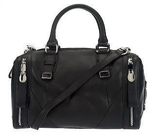 B.Makowsky Glove Leather Convertible Zip-Top Satchel