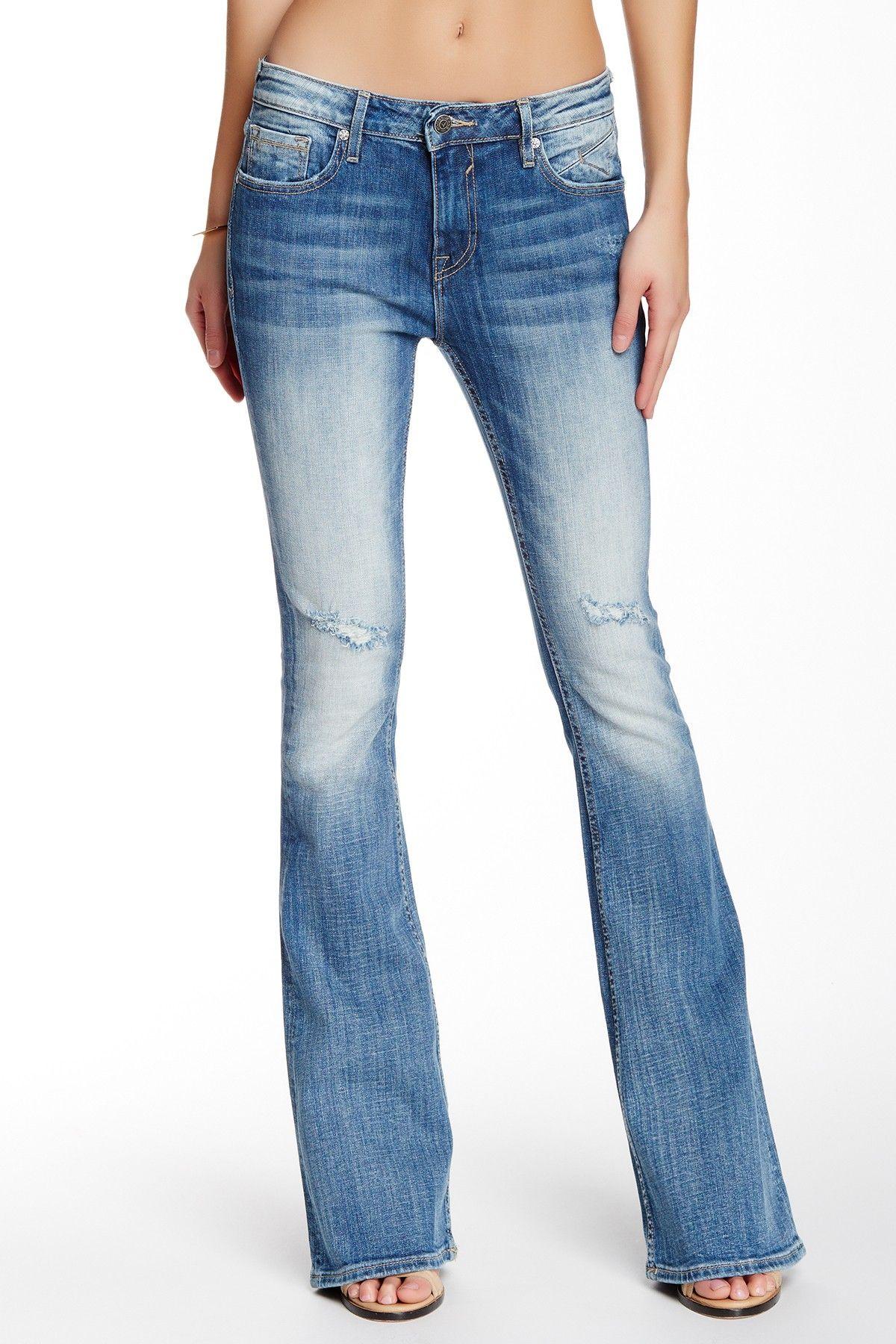 A V DENIM Chelsea Flared Leg Vintage Jean Vintage