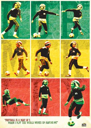 Bob Marley Soccer Futball
