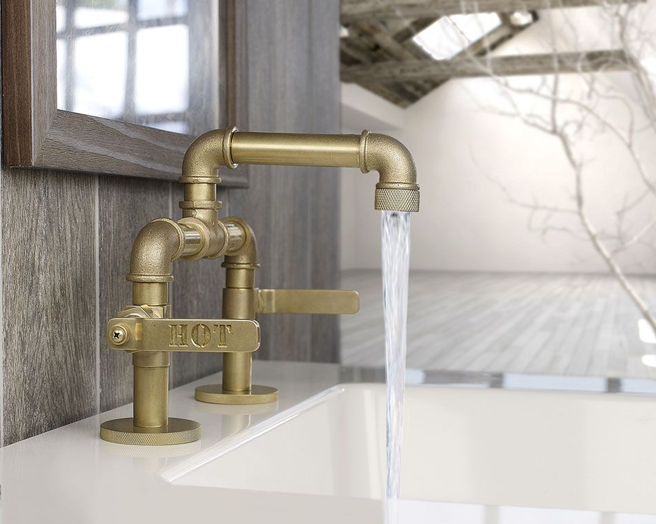 Attractive Customizable Industrial Style Faucet Design From Watermark    Http://freshome.com/