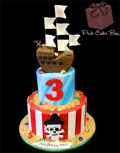 Pirate Ship Birthday Cake Birthday Cakes Pirate ships Birthday