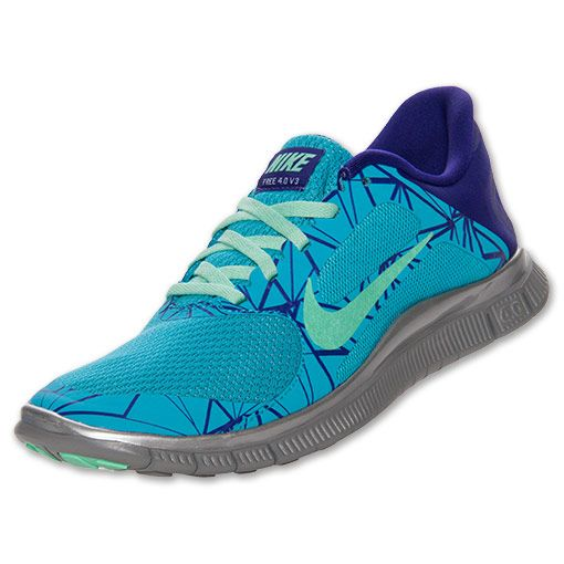 cheap for discount 2745f f2418 ... Womens Nike Free 4.0 V3 Print Running Shoes FinishLine.com Gamma Blue  ...