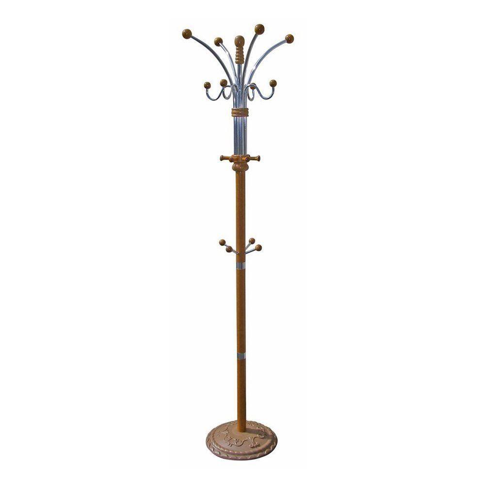 Ore International Oak 12 Hook Coat Rack Brown Entryway Furniture Decor Furniture Decor