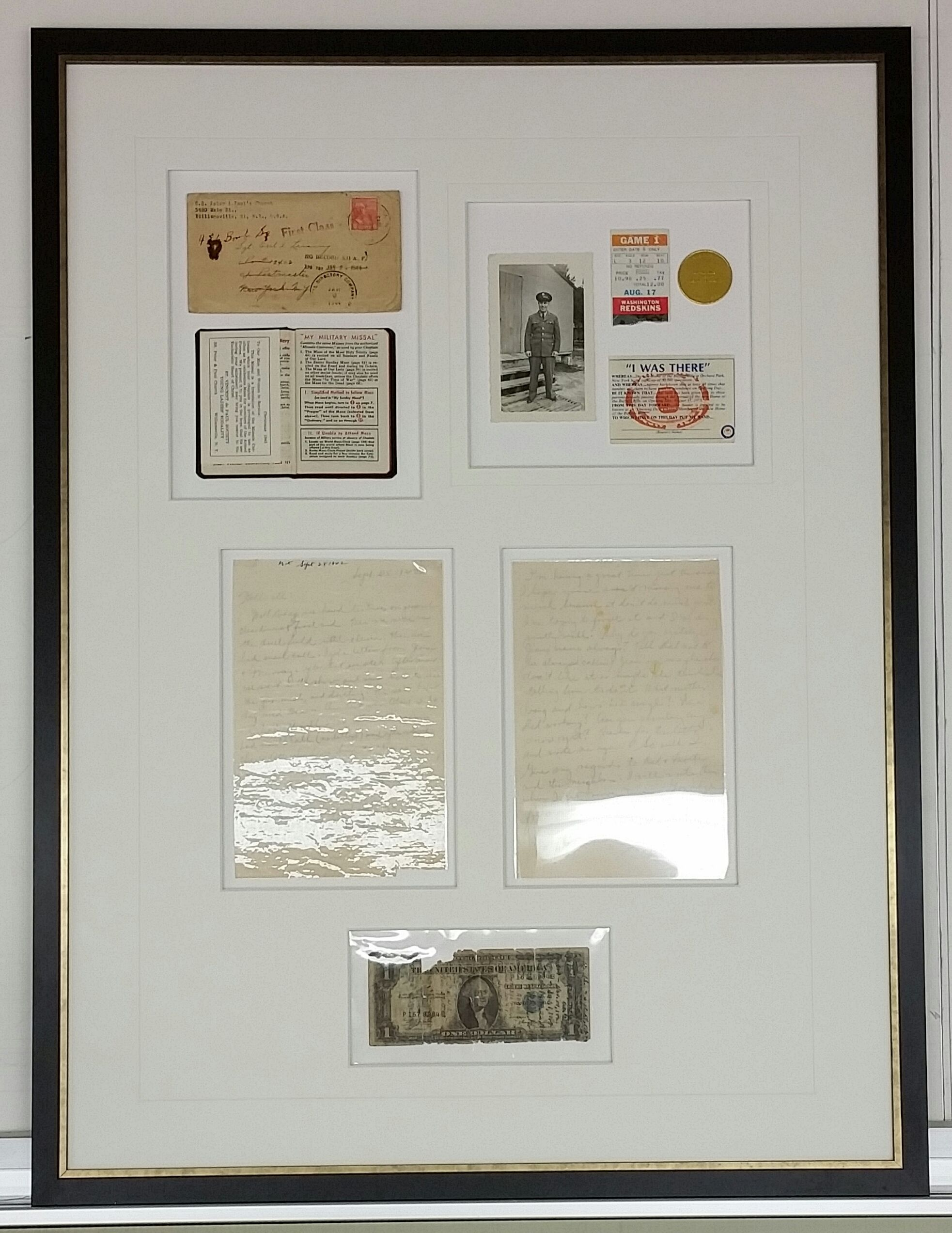 Shadow Box of WWII documents. Custom Framed for Father\'s day by ...