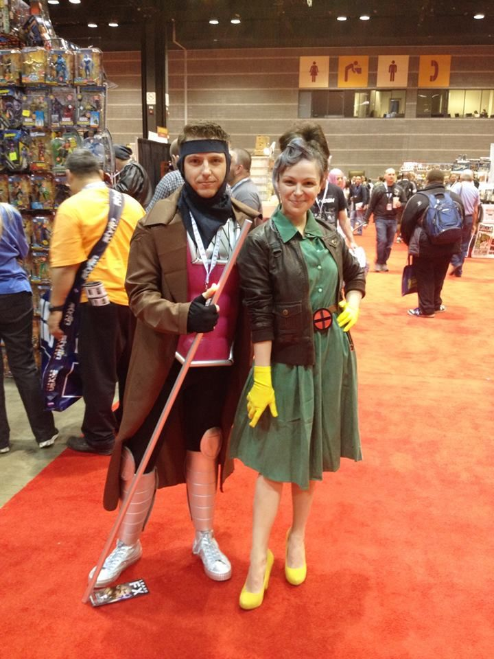 Gambit and Rogue. Cosplay can look awesome and still be modest :) #C2E2