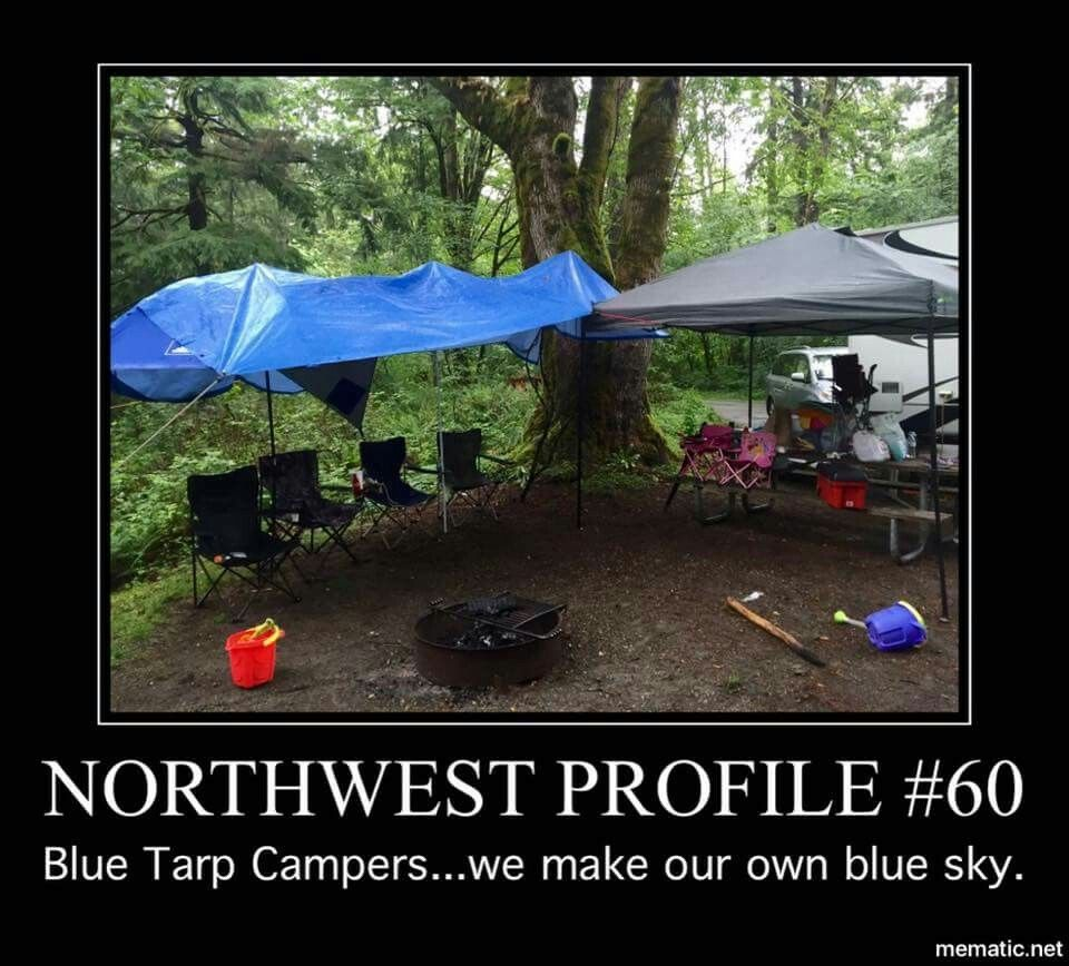 Lol! Great setup for around a campfire to stay dry though!!