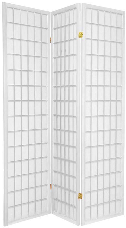 6 Ft Tall Solid Frame Fabric Room Divider 4 Panels: 6 Ft. Tall Window Pane Shoji Screen