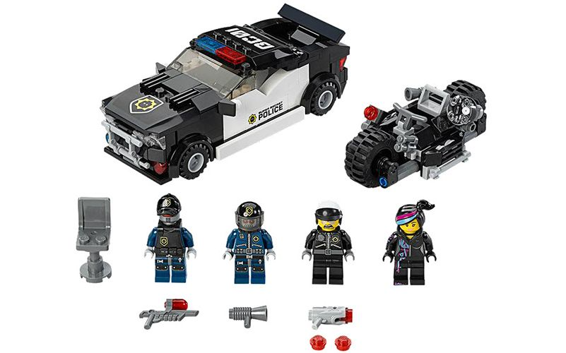 """Set of the day """"Bad cop car chase. Dial up the action with this LEGO(r) movie set! http://buildurbricks.co.uk/sets/bad-cop-car-chase/"""