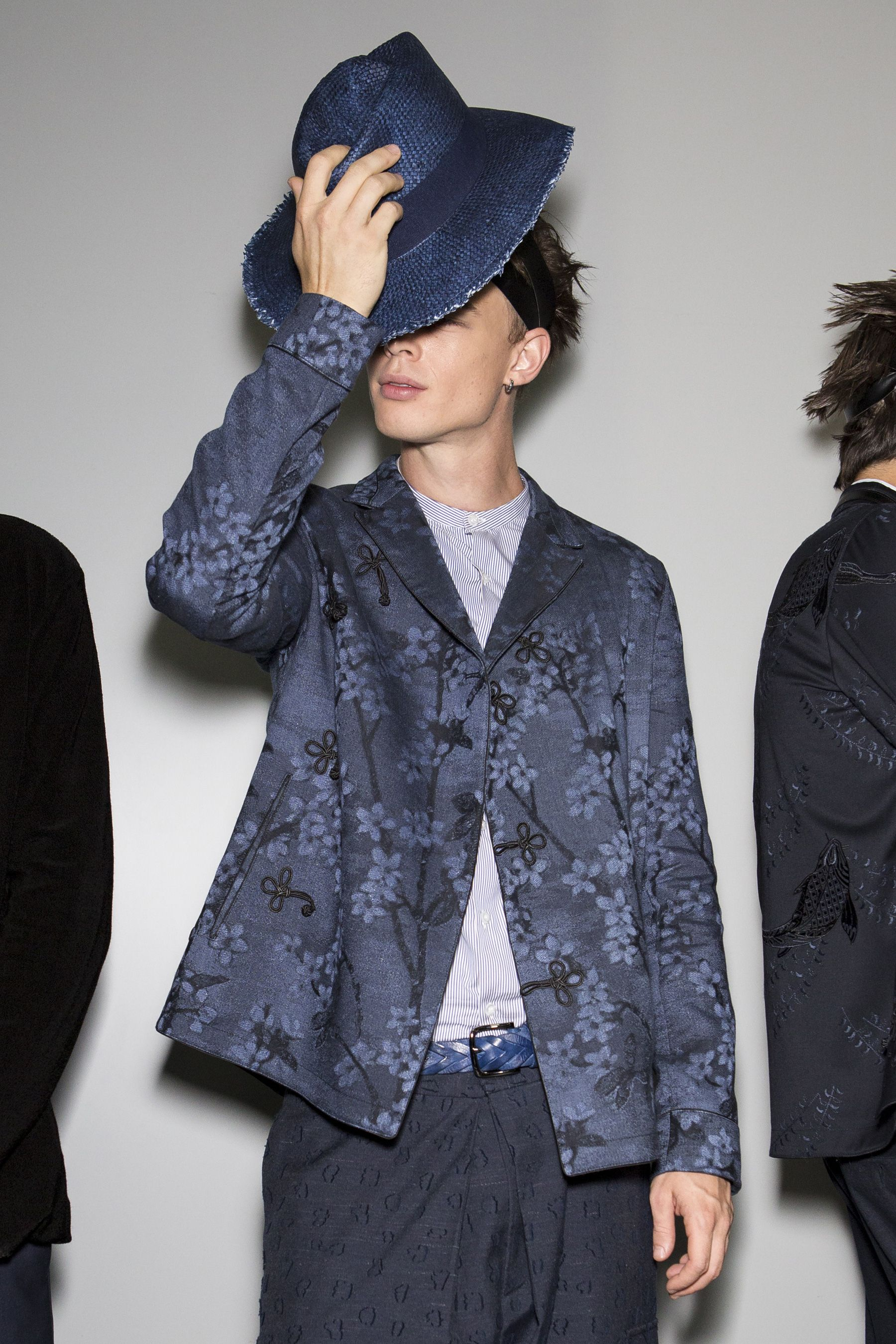 Emporio Armani Spring 2018 Men s Fashion Show Backstage - The Impression fd0fef721d