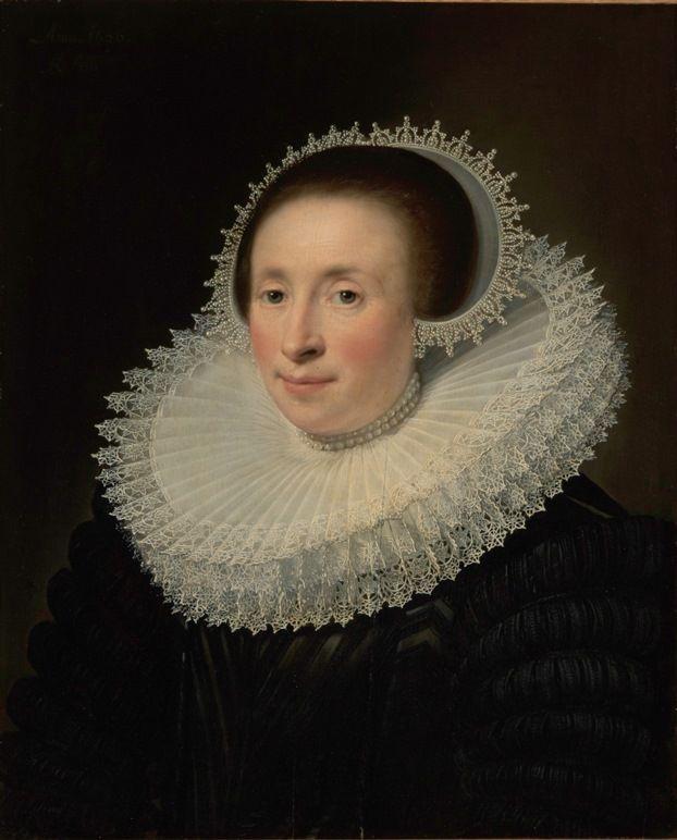 Jan Anthonisz. van Ravesteyn, Portret van Emerentia Banningh (1626). Collectie Museum De Lakenhal