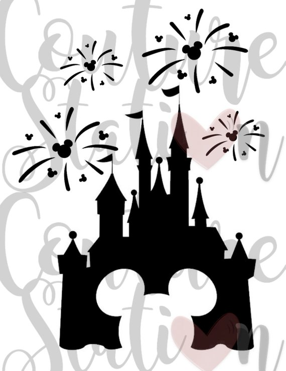 disney fireworks iron on image or printable instant download happy new year clip art diy t shirt