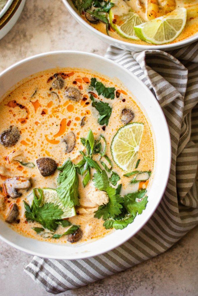 Tom Kha Gai Soup Thai Coconut Chicken Soup Recipe Tom Kha Gai Soup Coconut Chicken Tom Kha Gai