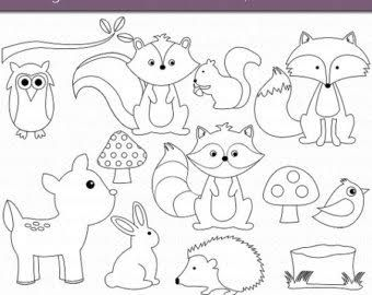 Image result for outlines of woodland creatures | Animal ...