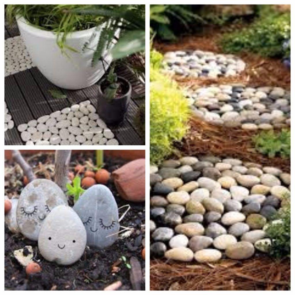 Des Idees De Decoration De Jardin Avec Des Galets Decoration Jardin Jardin De Galets Et Idee De Decoration