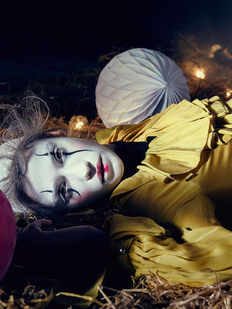 Harrods magazine shoots fashionable clowns