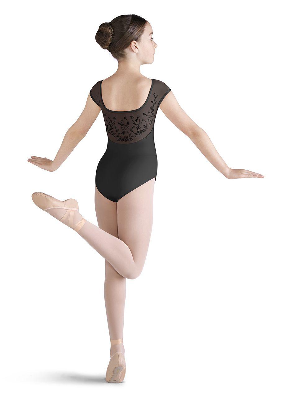 3061ccb15 Kids Blossom Mesh Back Cap Sleeve Ballet Dance Leotard by Mirella in ...