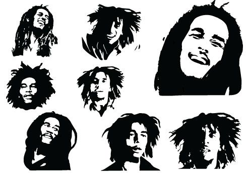 Silhouette Clip Art 2 28 Silhouette Of All Clip Arts Graphics Pictures And Images For Free Silhouette Clip Bob Marley Tattoo Music Silhouette Bob Marley