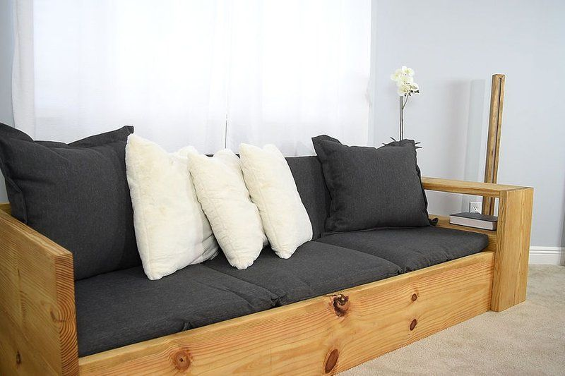 How To Make A Sofa That Turns Into A Bed Diy Sofa Bed Sofa Bed Wood Wood Sofa