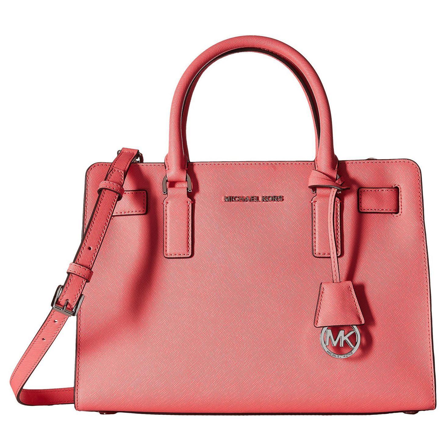 b3ef4fa3553b Michael Kors Dillon Coral East/West Satchel Handbag | Products ...