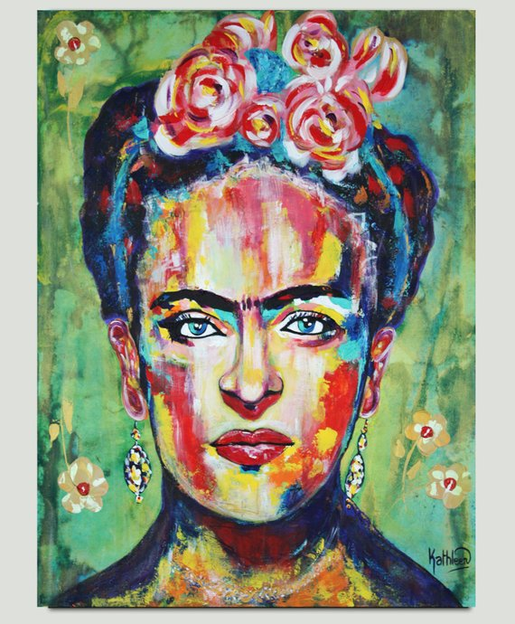 Set of 3 Frida Kahlo Self Portrait Painting Prints Wall Decor Fine Art