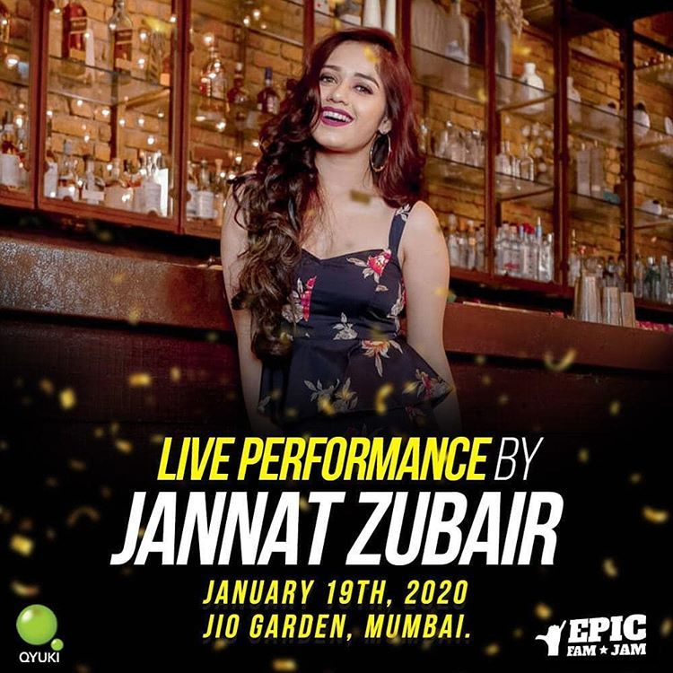 Jannat zubair rahmani on instagram catch me singing live