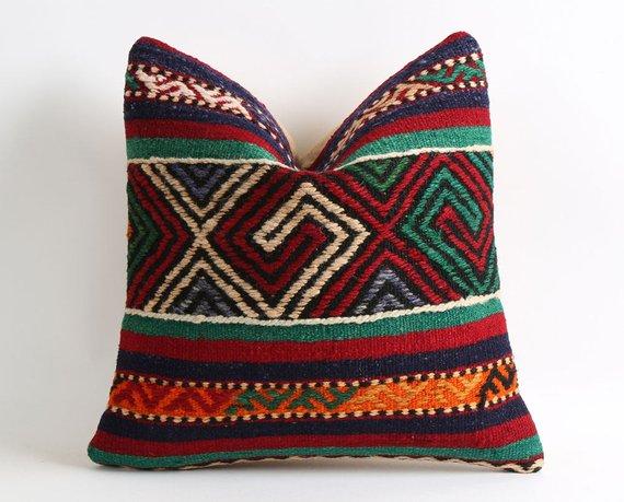 Kilim pillows hippie room decor moroccan kilim vintage pillowcases pillows hippie decor tribal boho
