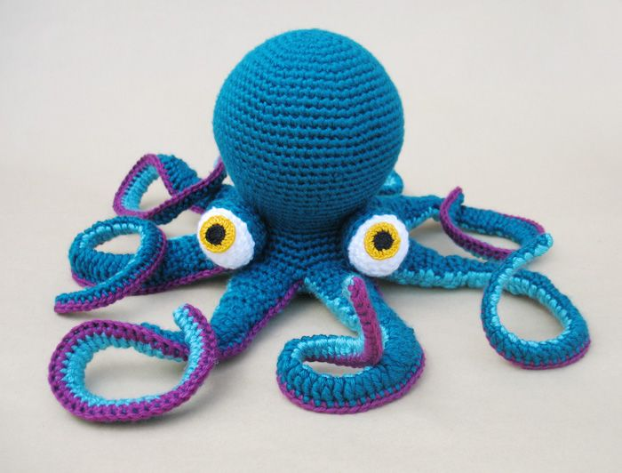 Großer Octopus häkeln. Anleitung Kostenlos Englisch Online verfügbar ...