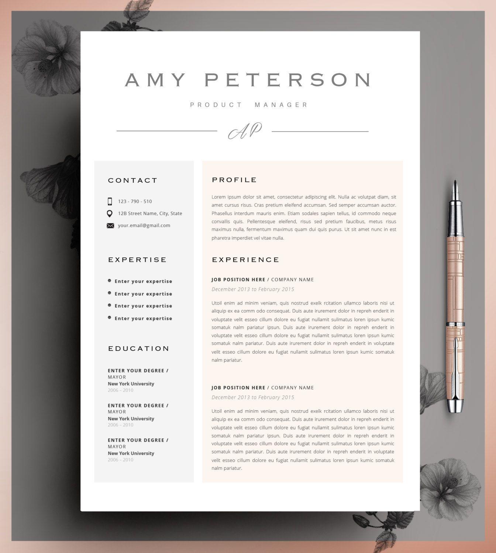 Professional Cv Curriculum Vitae 2 Page Resume Simple Etsy Creative Resume Templates Resume Layout Creative Resume