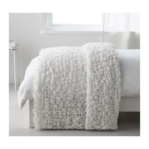 Ofelia Blanket White 51x67 Ikea Bedspreads Ikea Bedroom